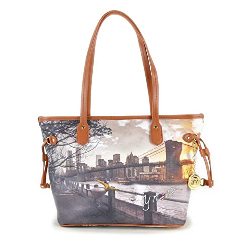 Borsa Y Not stampa New York 336 FNY  Amazon.it  Scarpe e borse 373e1f280af