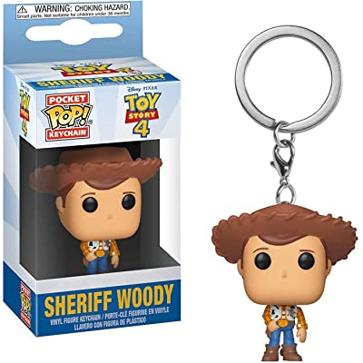 Funko Pop! Keychain: Toy Story 4 - Woody: Toys & Games