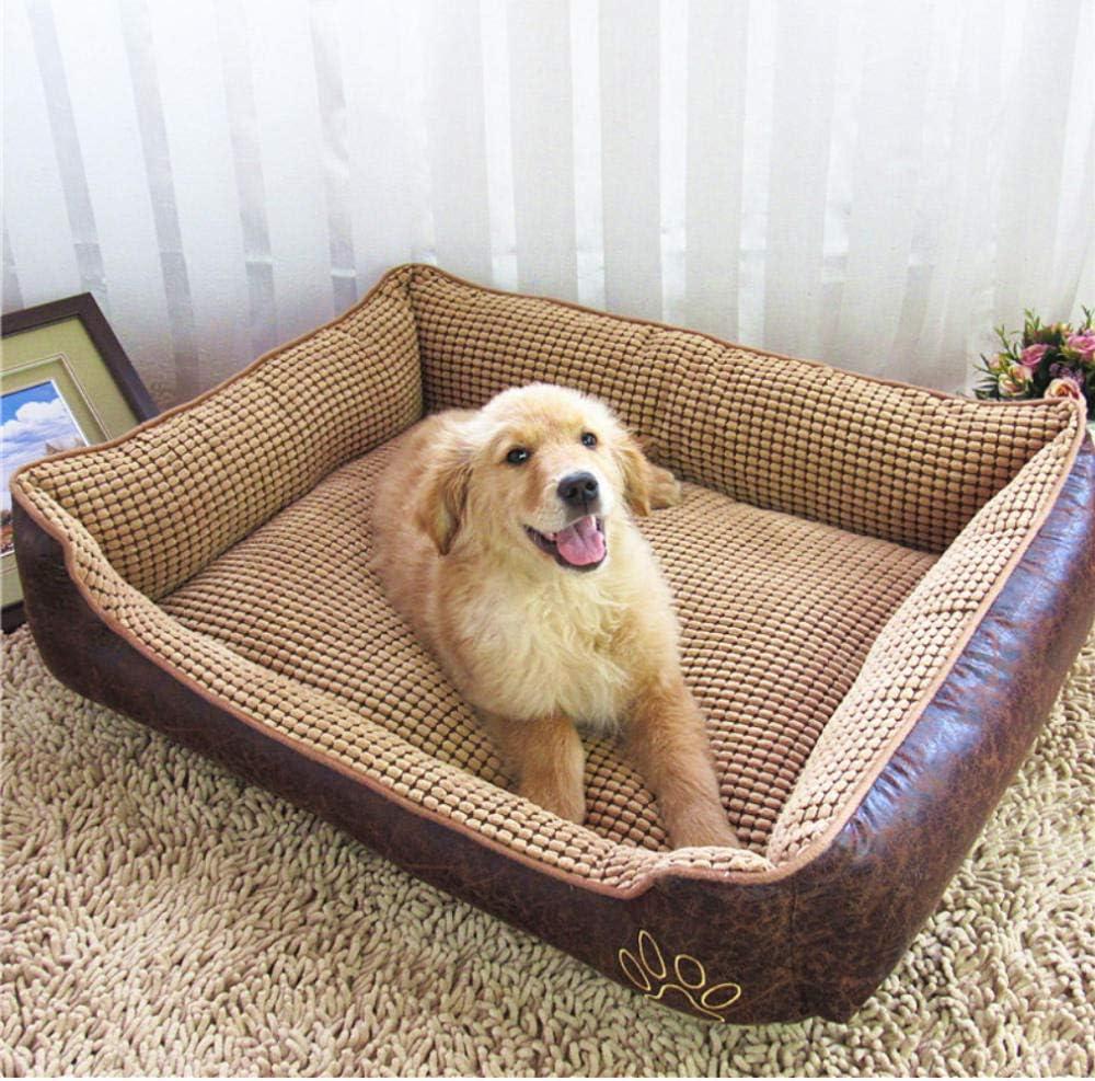 NHYTG Hondenbed Comfortabele Extra Grote Hondenbedden Big Size Warm Hondenbed Huis Sofa Mat Afneembare Kennel Huisdier Huis Kat Hond Puppy Kussen 50X40X20Cm-S1 6Hd 1 exemplaar