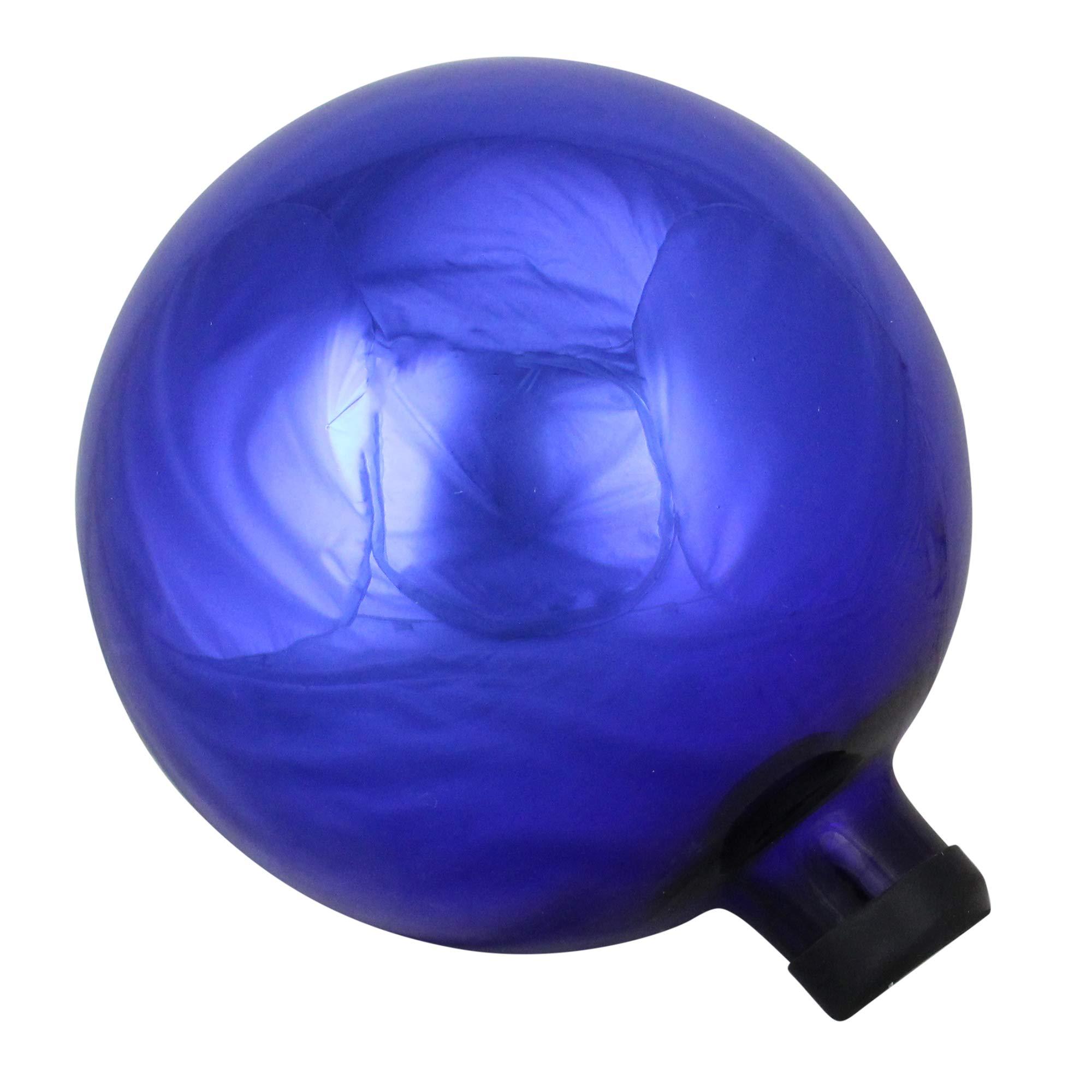 Northlight 10'' Shiny Royal Blue Glass Outdoor Patio Garden Gazing Ball
