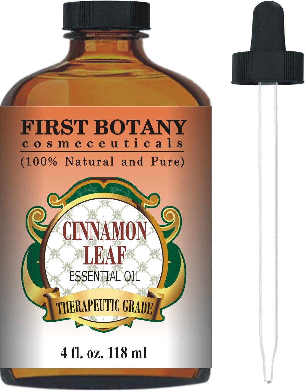 割引価格 Cinnamon Essential Oil Pure 4 Fl. With Oz. Odor With a Glass Dropper - 100% Pure & Natural Therapeutic Grade. Great As Natural Disinfectant, Odor Neutralizer, Insect Repellent & Massage Oil by First Botany Cosmeceuticals B0174346Q4, ミナミカワチマチ:e43ba804 --- arianechie.dominiotemporario.com
