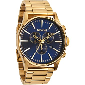 1b9fae82e Image Unavailable. Image not available for. Color: Nixon Sentry Chronograph  Blue Sunray ...