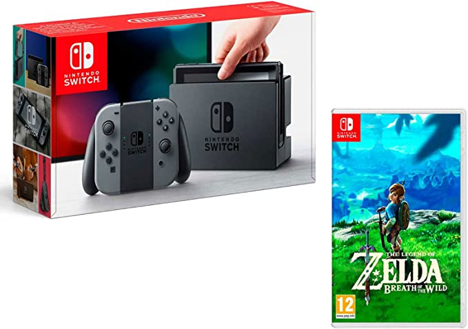 intendo Switch Gris 32Gb + The Legend of Zelda: Breath of the Wild: Amazon.es: Videojuegos