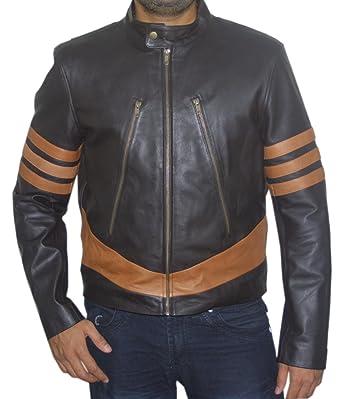 Superior Leather Garments X-Men Wolverine Logans XO réplica Real con una Chaqueta de Cuero: Amazon.es: Ropa y accesorios