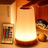 GKCI Touch Lamp, Portable Table Sensor Control Bedside Lamps with Quick USB Charging Port, 5 Level Dimmable Warm White Light