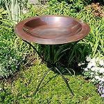 Achla Designs 24-in Round Classic Copper Birdbath Bowl 6