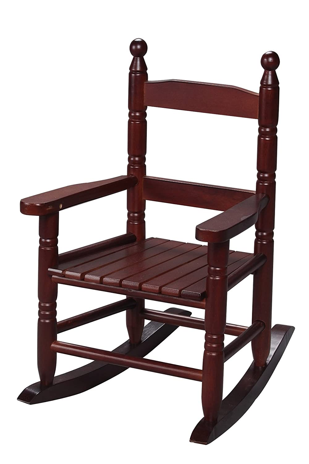 Amazon.com: Gift Mark Childu0027s Double Slat Back Rocking Chair, Espresso:  Kitchen U0026 Dining
