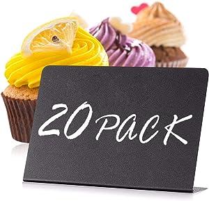 20 Pack Mini Chalkboard Signs 4