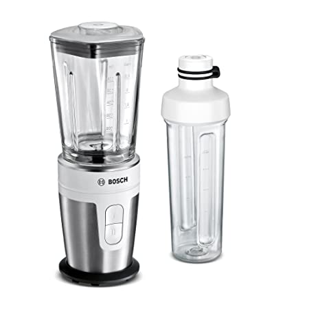 Bosch MMBM7G2M VitaStyle Mixx2Go Batidora de vaso individual, 2000 W, 12 Unknown_Modifier, 0.3, Plástico, 2 Velocidades, Blanco