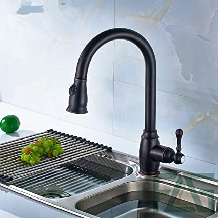 Copper Kitchen Faucet Black Copper Single Handle Single Hole Faucet