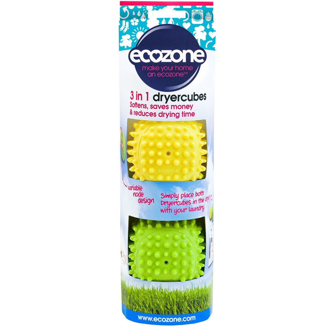 TALLA 2 unidades. Ecozone E2500 - Cubos suavizantes (que aceleran el secado de la ropa)