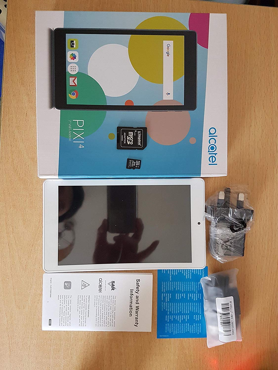 Alcatel OneTouch Pixi 4 (7 inch) WiFi Tablet 8GB+1GB BT (2MP) Camera Android M (White)