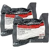 "EverOne 4"" Israeli Emergency High Strength Compression Bandage, Trauma Wound Dressing, Hemostatic Control Bandage, 2 Pack"