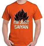 Brisco Brands Just Saiying Funny Super Saiyan DBZ Gym T Shirt Tee