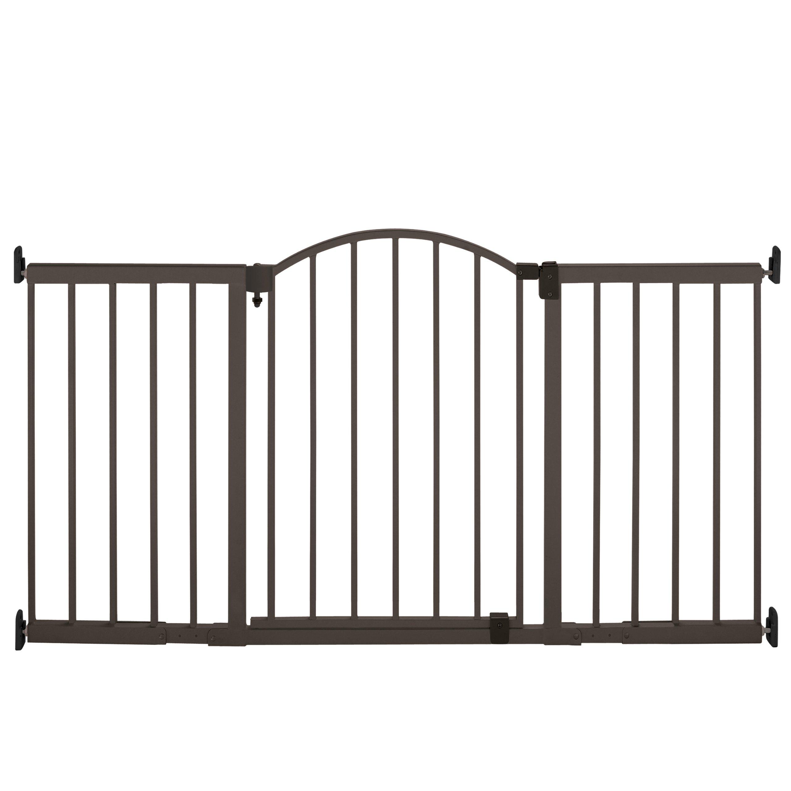 Summer Infant Metal Expansion Gate 6 Foot Wide Extra Tall Walk-Thru Bronze