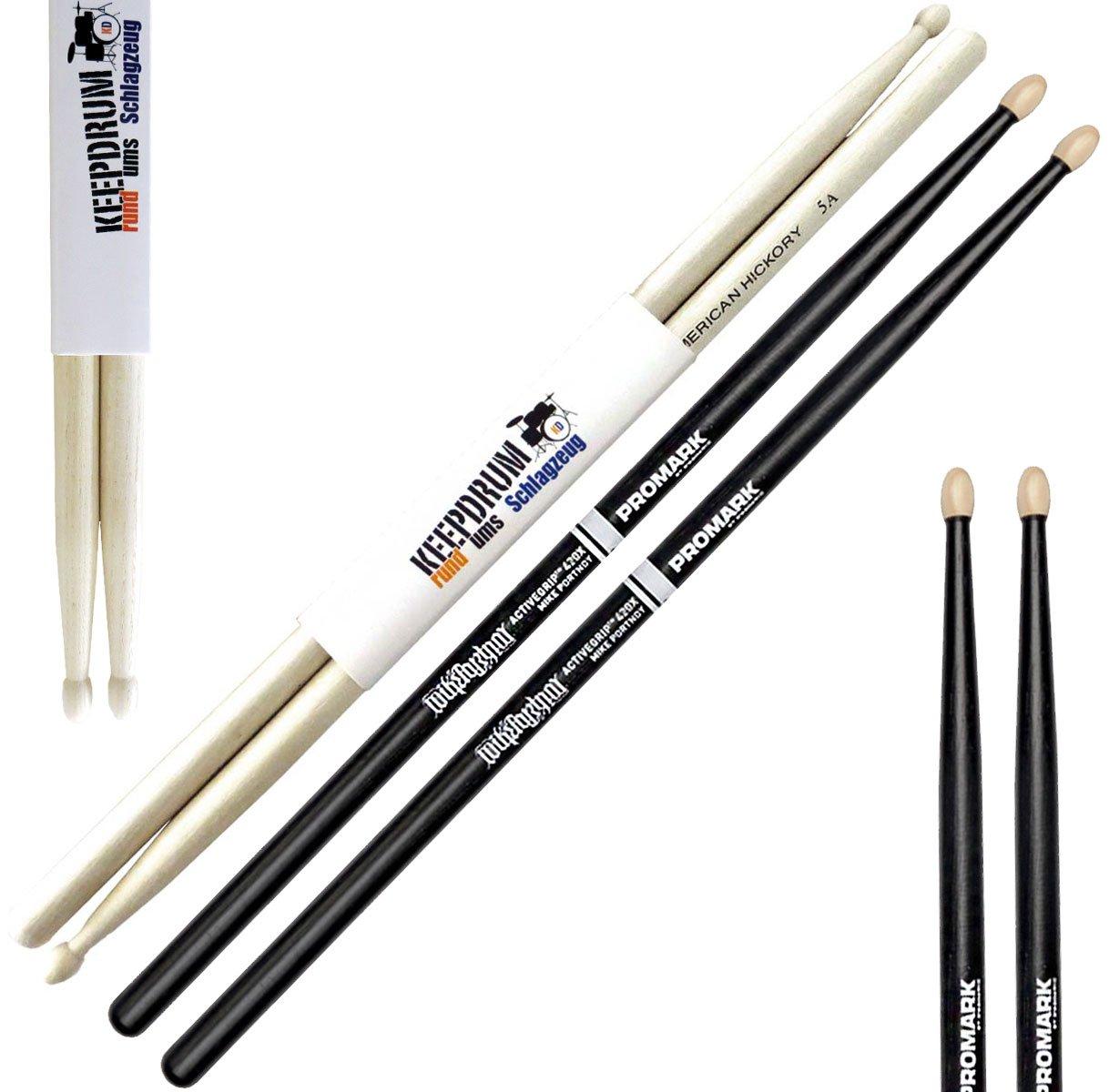 keepdrum  5BB Black Hickory Drumsticks Schwarz