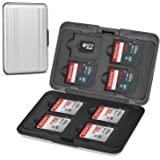 Senkoovi Aluminum Shock Resistant Carrying Box Holder Memory Card Storage Box Case Holder 8 Slots for SD SDHC MMC Micro SD TF