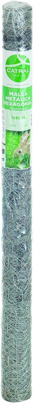 /Rete Esagonale zincata 100/x 300/x 4/cm Catral 55020016/ Colore: Argento