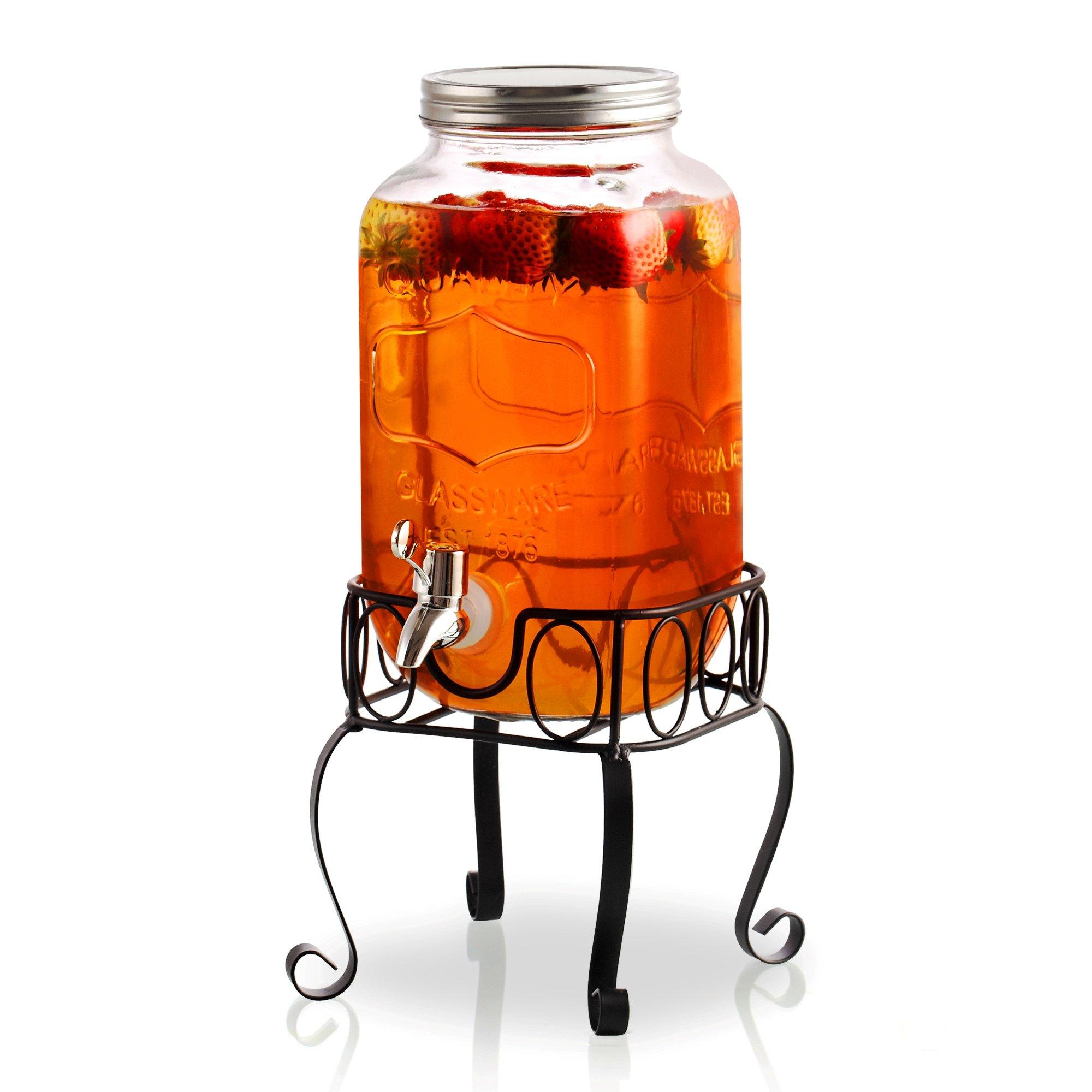 Cook N Home 02578 Cold Beverage Dispenser, 1 gallon, Clear