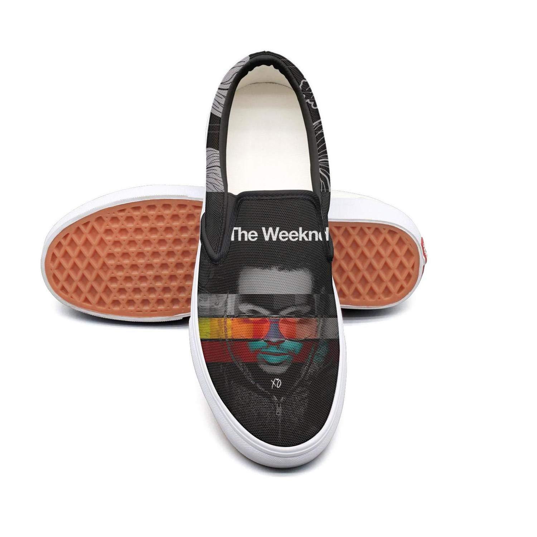 OUCUI Women Girls The-Weeknd-Neon-Cross-Portrait Sneakers Shoes for Womens