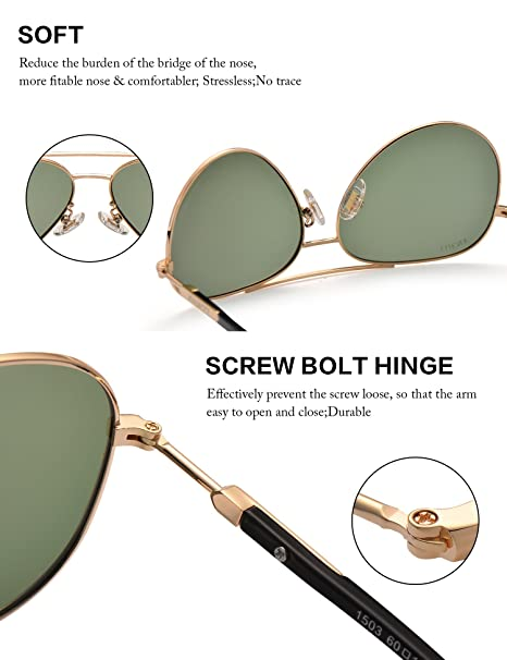 Kennifer Frauen Polarisierte Sonnenbrillen Outdoor Fahren Damen Sonnenbrillen Flieger Gläser Mode Sport UV 400 Eyewear (Lila) szWeI