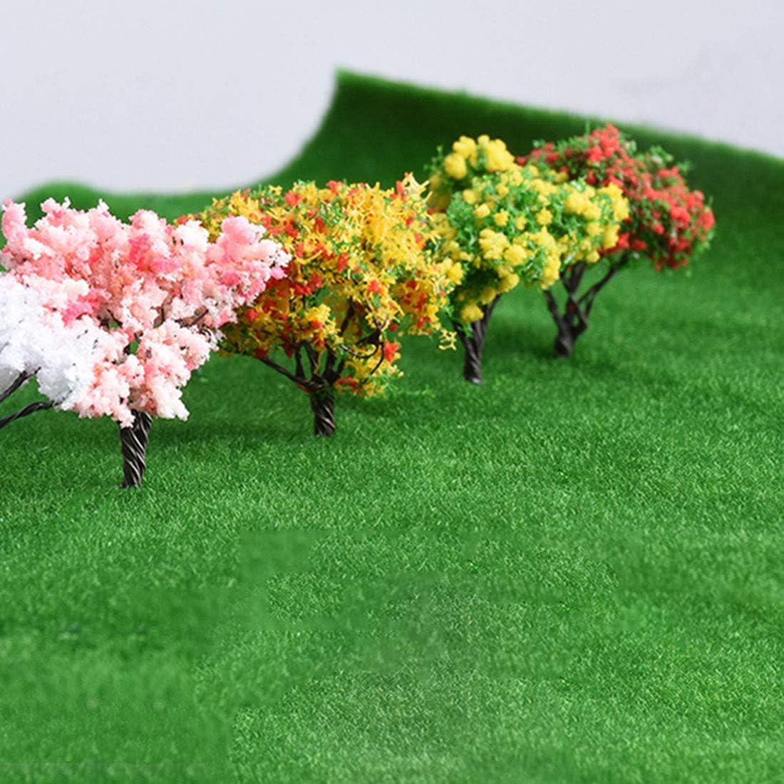 Spieland Grasmatte Modellbau Gras Matte Deko Kunstrasen Gel/ändeteppich Wiese Rasenteppich Miniatur Garten Deko Modelleisenbahn Zubeh/ör 100 x 250cm