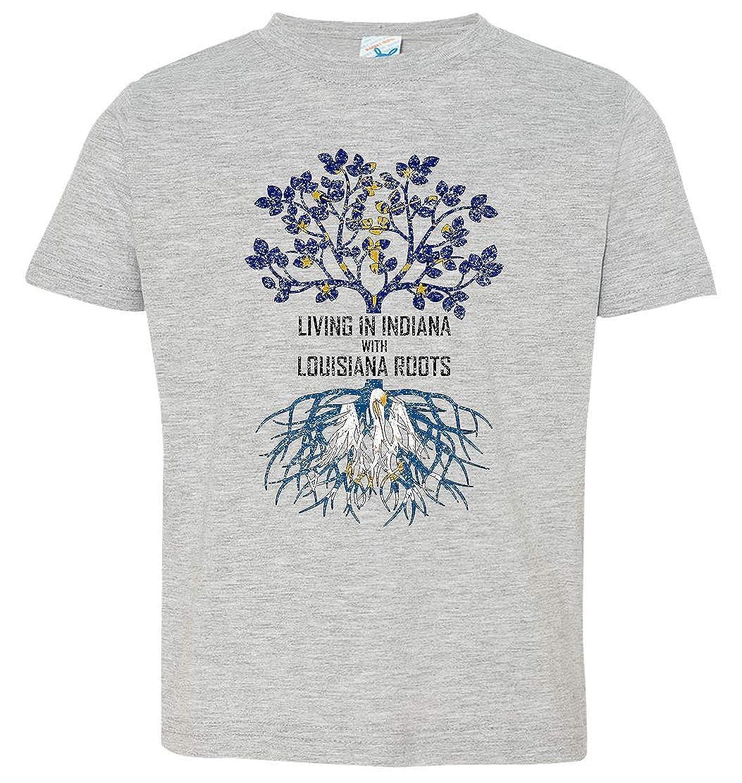 Tenacitee Babys Living in Indiana Louisiana Roots Shirt