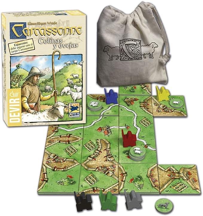 Devir - Carcassonne Colinas y Ovejas, Juego de Tablero (BGCOVE): Amazon.es: Juguetes y juegos