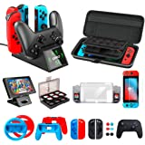 Accessories Kit Bundle for Nintendo Switch Starter, OIVO Accessories Bundle Kit for Nintendo Switch Console (20 in 1)