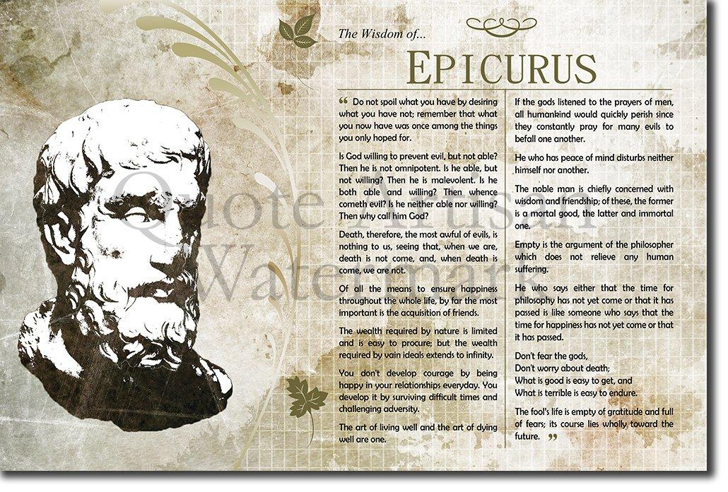 Amazon Introspective Chameleon The Wisdom Of Epicurus Poster