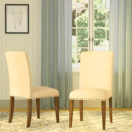 Armless Dining Chair Cushion Upholstered Contemporary Tufted Room Side Living