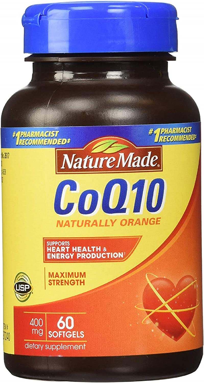 Nature Made CoQ10 Coenzyme Q10 400 mg - 60 Softgels