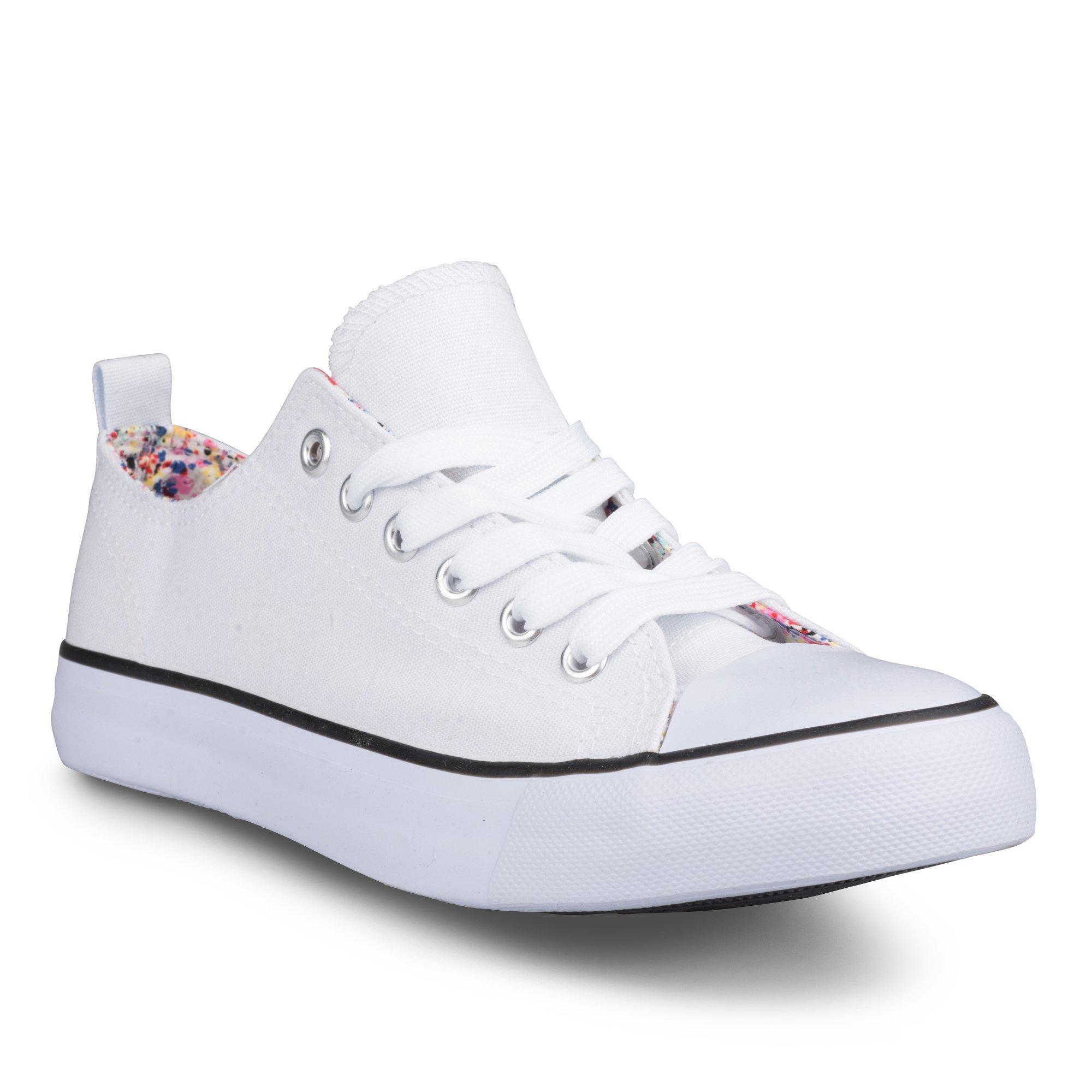 Twisted Women's Kix Printed Double Tongue Fashion Sneaker - KIXDT06 White, Size 9