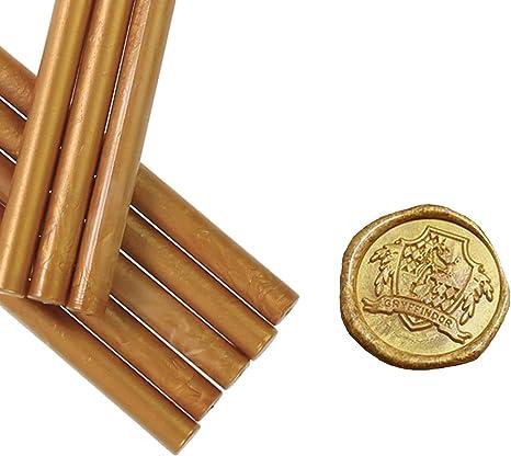 Pack de 8 barras metálicas de cera para sellar sellos de cera, ideal para tarjetas sobres, bodas, día de San Valentín, invitaciones de compromiso, idea de regalo: Amazon.es: Juguetes y juegos