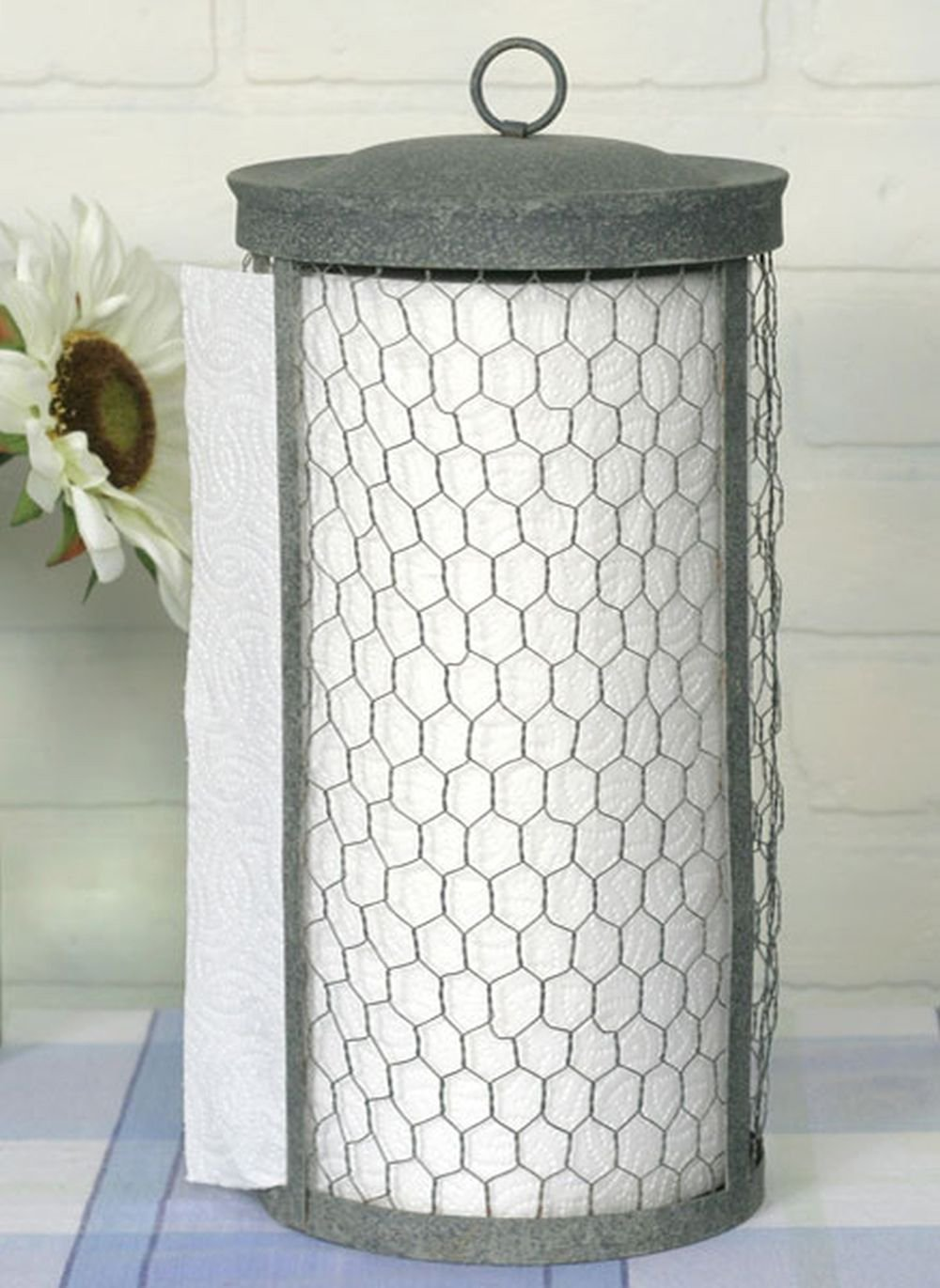 Colonial Tin Works Chicken Wire Paper Towel Holder by Colonial Tin Works