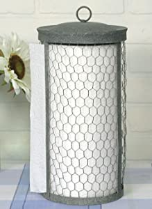 Colonial Tin Works Chicken Wire Paper Towel Holder