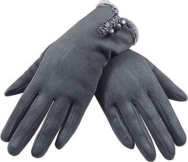 Guantes para pantalla táctil, guantes de invierno para mujer, guantes de invierno, gruesos, cálidos, con forro supersuave y cálido, para conducir, ...