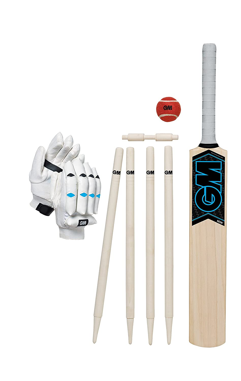 GM Kinder Neon Cricket-Set, Kinder, Neon Blau Gunn&Moore 42421715