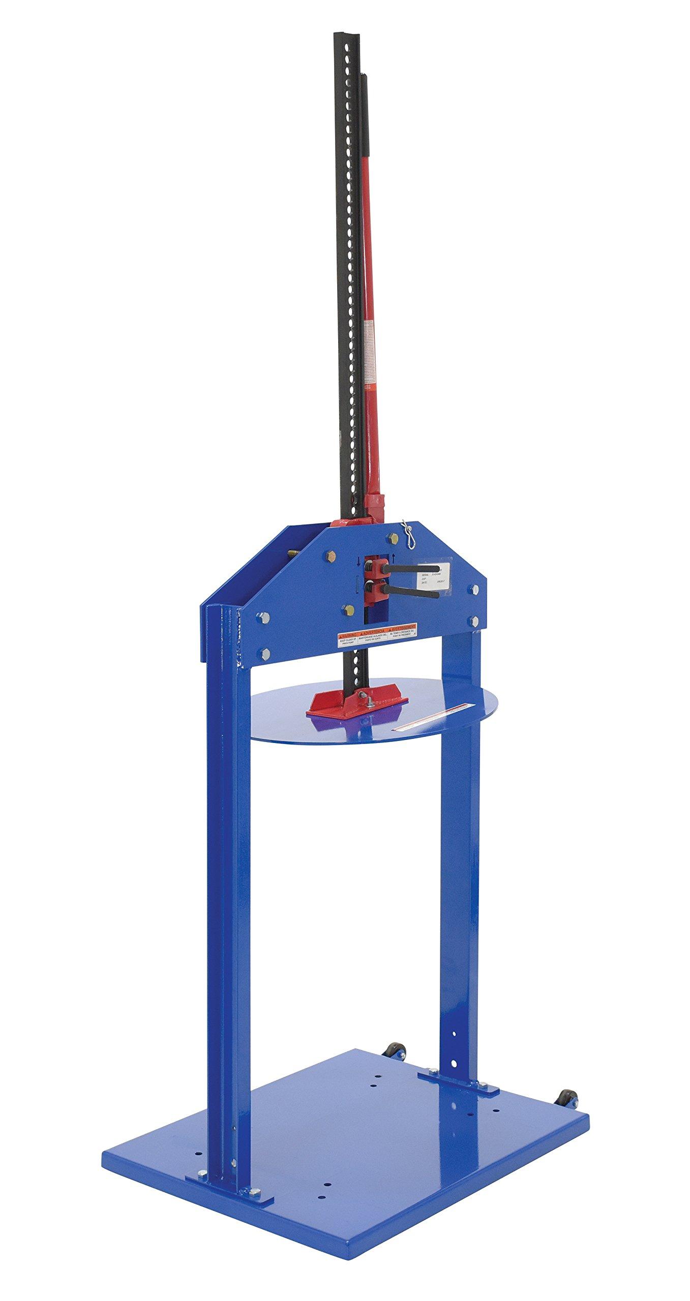 Vestil MTC-55 Manual Trash Compactor for 55 gal Drums, Blue