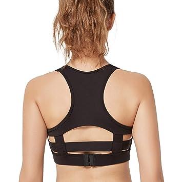 Yvette Mujer sujeción Fuerte Fitness Espalda Acolchada sin Planchar 080248 de Sujetador Deportivo Secado rápido: Amazon.es: Ropa y accesorios
