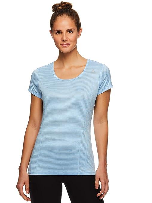 c0a5061e4fece Reebok Women's Dynamic Fitted Performance Short Sleeve T-Shirt ...