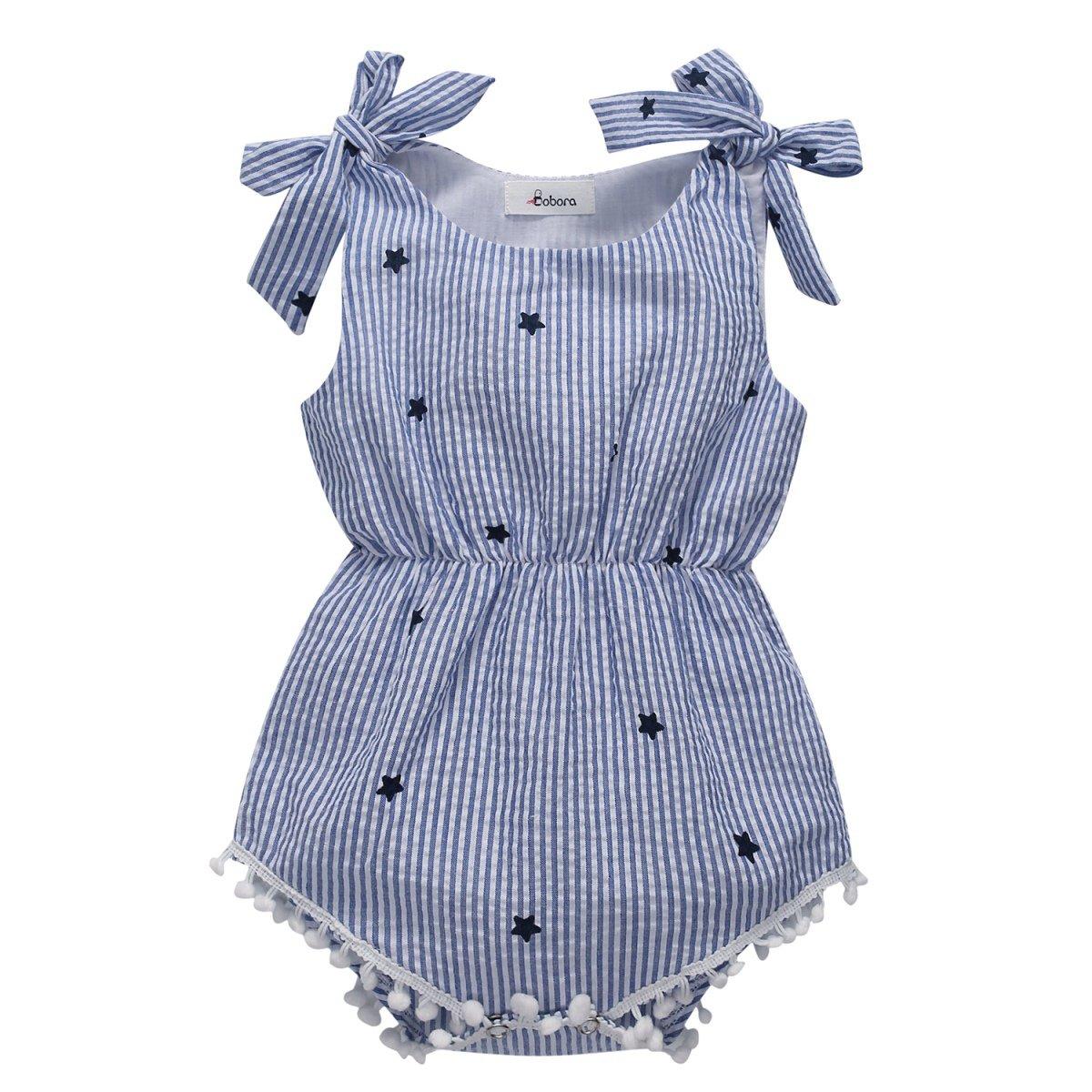 MiyaSudy Neonata Bambina Vestiti Del Partito Del Pagliaccetto Di Estate Delle Cinghie Della Principessa Bowknot Abiti