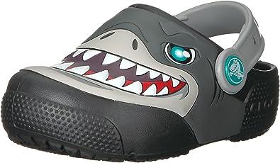 Slip on Water Shoes for Boys Crocs Kids Fun Lab Dino Band Lights Clog Light Up Girls