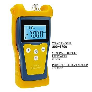 Nueva Óptica De Fibra Óptica -50 ~ +26 DBm Medidor De Potencia Tester Eng. Sistema De Cableado De Mantenimiento: 220V: Amazon.es: Bricolaje y herramientas