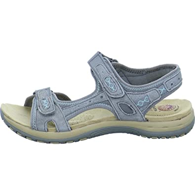 bb5fe0aae4e Earth Spirit Womens Frisco Frost Grey Double Velcro Strap Sandals 28091 UK 3