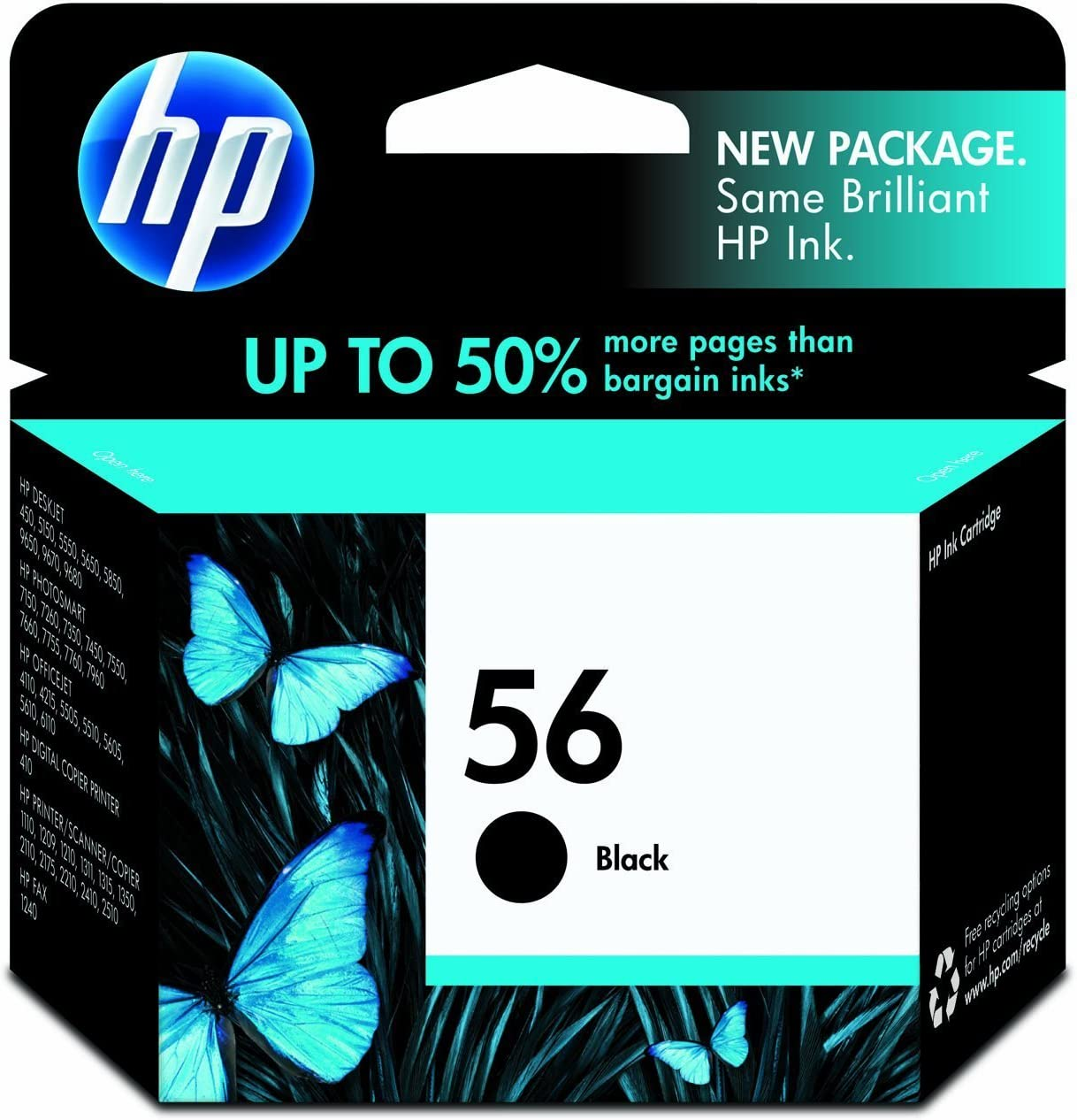 HP 56 | Ink Cartridge | Black | C6656AN