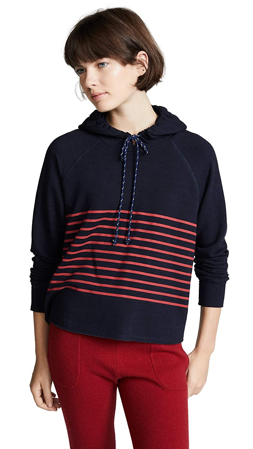 SUNDRY Women's Cropped Stripes Hoodie