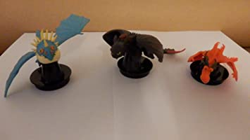3er Satz Drachenzahmen Leicht Gemacht Kuchen Becher Topper Figuren