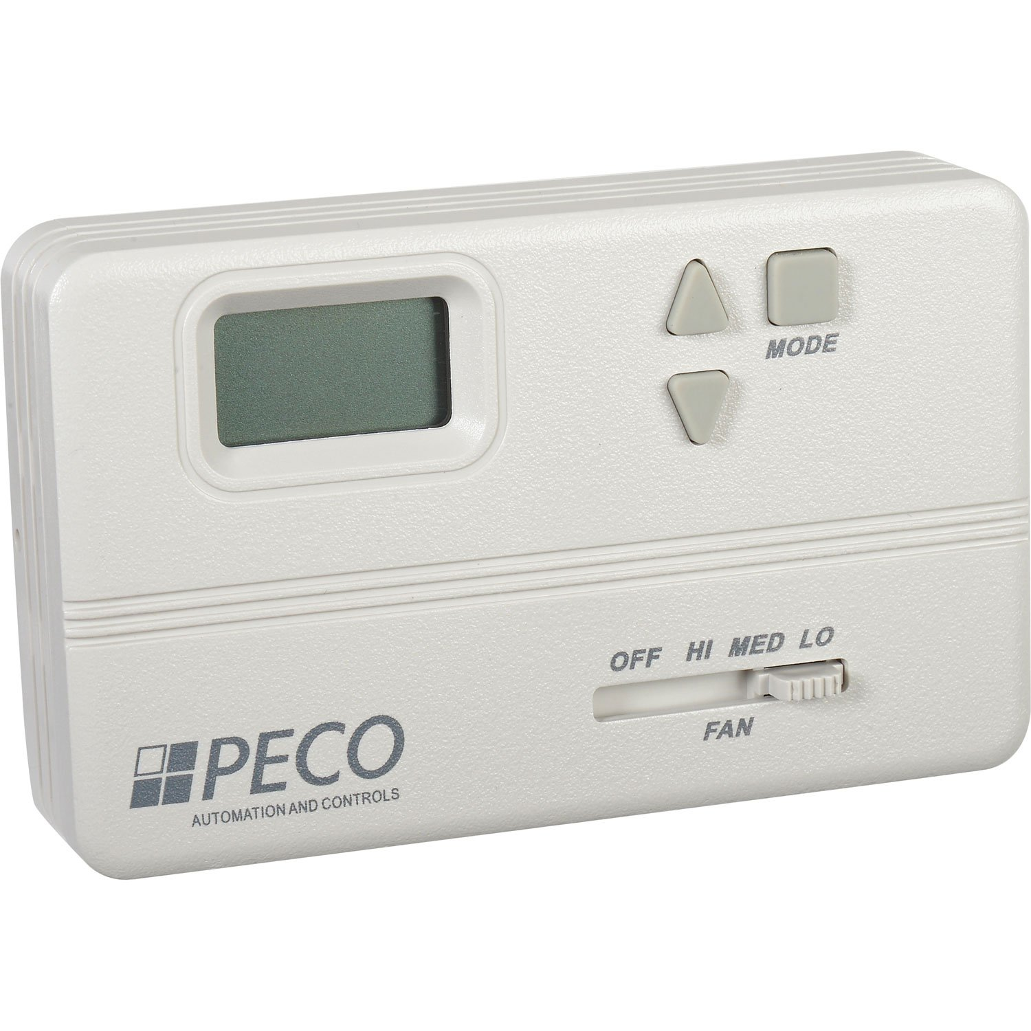 Modulating Fan Coil Thermostat W/ Auto-Heat-Cool-Off Switch, Off-Hi-Med-Lo Fan Control, 3-Wire, Lot of 1 by PECO
