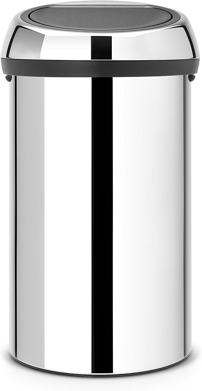 Brabantia 60 Litre Touch Bin Brilliant Steel My